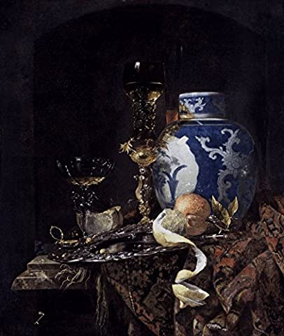 Still-Life With A Late Ming Ginger Jar - By Willem