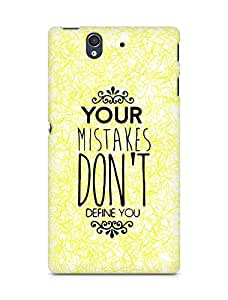 AMEZ your mistakes dont define you Back Cover For Sony Xperia Z