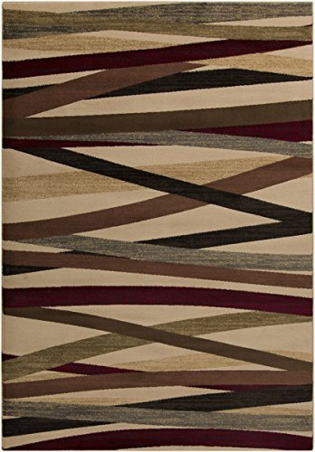 Surya RLY5058-233 Machine Made Modern Accent Rug, 2 by 3-Feet 3-Inch, Burgundy/Chocolate/Butter/Gray/Black/Beige/Tan/Olive by Surya (Surya Olive)