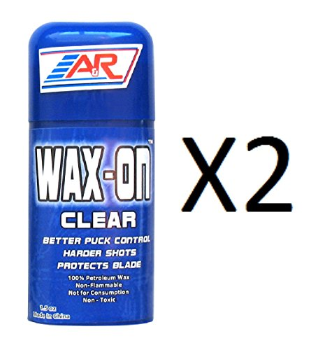 A&R Hockey Stick Clear Rub On Stick 100% Petroleum Wax Protects Blade (2-Pack) (Puck Wachs)