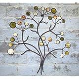 Cuadro decorativo de Metal de fotos de madera de - árbol de cuentas de piedra