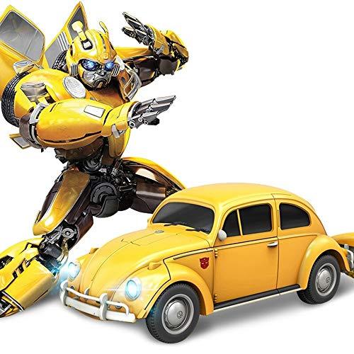 Kikioo Yellow Body Future Wiederaufladbare, verformte, ferngesteuerte, ferngesteuerte Sportwagen 2.4Ghz Autobots Toys One Touch Verwandeln Autobot Drifting Sound And Lights Geburtstagsgeschenk der Kin - Toy 4k Story