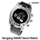 SW007 Smartwatch con fotocamera orologi con SIM Card Contapassi APP notifica chiamata a mano libera Wrist Band per iPhone e smartphone Android Samsuang LG (grigio)