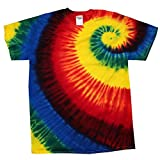 Colortone - Unisex Batik T-Shirt 'Swirl' / Rainbow Burst, 4XL