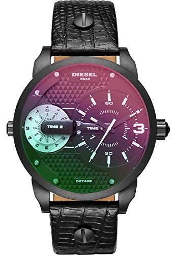 Diesel Damen-Armbanduhr Quarz One Size, schwarz, schwarz
