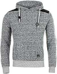 Sweat Capuche Cabaneli Spotty Gris Chiné