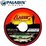 Paladin Classic Speziline Hecht Zander dunkelgrün 400m 0,30mm 7,2kg - Angelschnur zum Hechtangeln, monofile Schnur für Hechte
