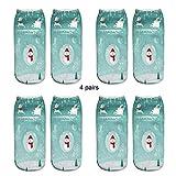 SEWORLD Weihnachten 3D Gedruckte Weihnachtsfrauen Bootssocken Beiläufige Socken Niedliche Unisex Socken des niedrigen Schnittes N11