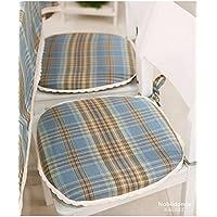 CLG-FLY studenti americani dalla sedia rurale pad imbottitura cuscino tessuto lavabile gingham cuscino cuscino (a),45*43cm (disco