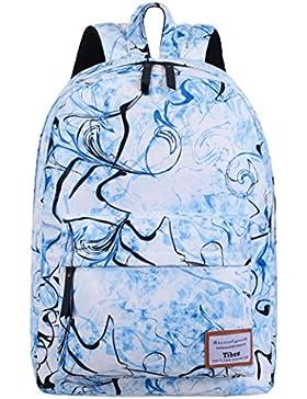 Tibes School Rucksack Polyester leichter Rucksack gedruckt Casual Rucksack für Mädchen