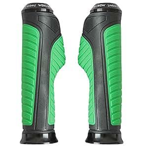 Vheelocityin Motorcycle / Bike /Scooty Handle Edge Grip Black and Green Color...