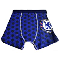 Chelsea FC Official Childrens Boys Football Boxer Shorts (4-5 Years) (Blue)