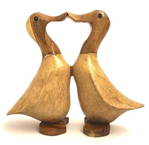 Indische Laufente Enten Holz mit Schuhen Holzfigur Holzskulptur handgeschnitzt 45cm