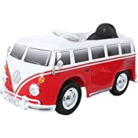 ROLLPLAY Electric Car, With Remote Control, Reverse Gear, For Children 3 Years and Older, Up to 35 kg, 6-Volt Battery, Up to 4 km/h, VW Bus Type 2 (T1), Red
