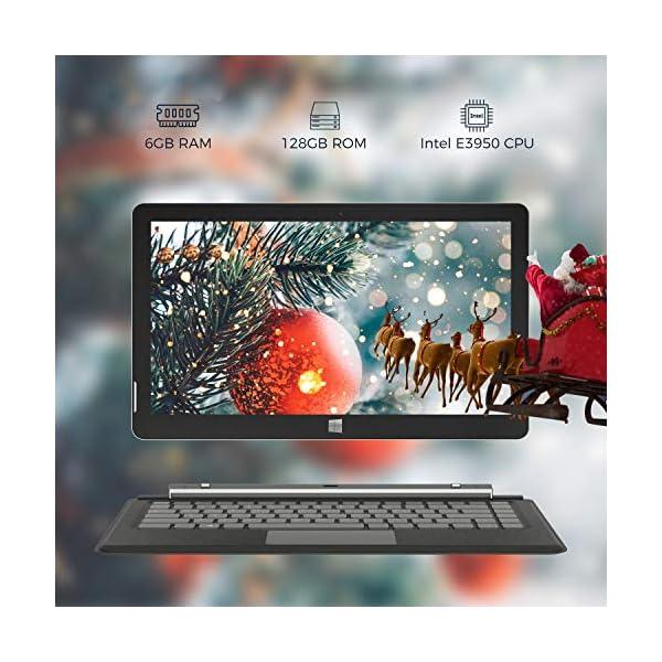 XIDU-PhilPad-2-in-1-Touchscreen-Laptop-133-inch-FHD-Tablet-Intel-E3950-Quad-Core-Processor-6GB-RAM-128GB-eMMC-WIFI-Bluetooth-Type-C-Detachable-Keyboard-and-Stylus-Pen-Windows-10-Ultrabook