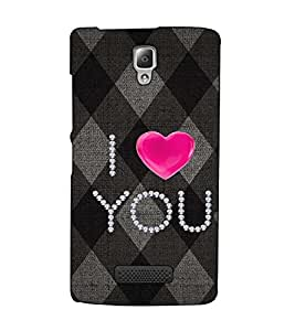 Fuson Designer Back Case Cover for Lenovo A2010 (I Love You Theme)