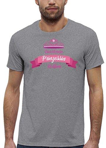 Fasching Karneval Premium Herren T-Shirt Bio Baumwolle Das ist mein Prinzessin Kostüm 2 Heather Grey