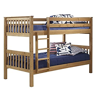 Pine Single Bunk Bed + Bunks Can Be Separated + Ladder Can Be Fixed to Either Side + FREE UK Delivery