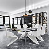 vidaXL 6xFreischwinger Esszimmerstühle Z Form Schwingstuhl Sitzgruppe Kunstleder