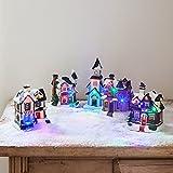 Assortiment de Décorations pour Village de Noël Lumineux par Lights4fun