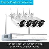 LESHP Smart Home drahtlose 4CH 960P Überwachung Kamera-Sicherheitssystem und 1T HDD