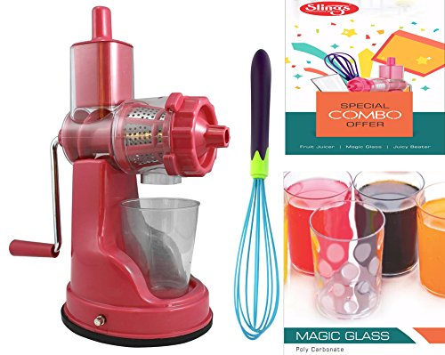 Slings Diwali Festival Combo Of Fruit Juicer, Egg /Juicy Beater/Frother/Whisker With 3 Stylish Glasses (Color May Vary)