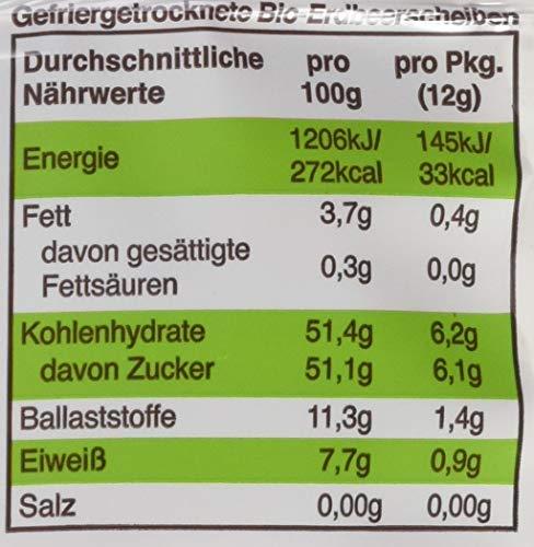 """Freche Freunde Bio Fruchtchips """"100% Erdbeere"""", gefriergetrocknet Obst Chips Erdbeere, ohne Zuckerzusatz, vegan, laktosefrei, glutenfrei, 12er Pack (12 x 12 g)"""