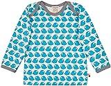 loud + proud Unisex Baby Langarm mit Druck, aus Bio Baumwolle, GOTS Zertifiziert T-Shirt, Blau (Petrol Pe), (Herstellergröße: 62/68)