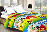 Monil Angry Birds Cartoon Character Kids Single Bed Reversible AC Dohar/Blanket (Set of 1)