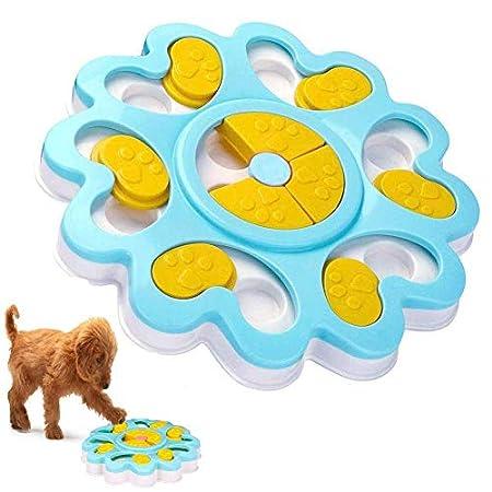 ADOGO Hund Puzzle Feeder Spielzeug, interaktive Treat Dispenser Puzzle Hundespielzeug, Hundetraining Spiele Feeder mit rutschfesten, verbessern IQ Slow Feeder Puzzle Bowl für Welpen Haustier