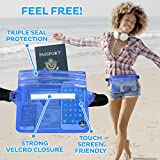 (2 Pack) Wasserdichte Tasche Beutel Handyhülle für Taille oder Schulter ideal zum Segeln, Wandern, Schwimmen, Angeln – sicherste Weg, Ihre Produkte trocken – 100% Garantie auf Lebenszeit - 5
