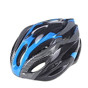 Lixada New Fashion Sports Bike Bicycle Cycling Safety Helmet with Removable Visor Carbon Fiber for Unisex Adult (Blue)