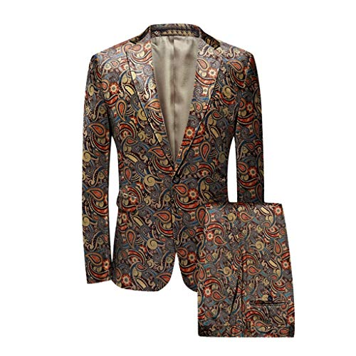 Luckycat Herren Anzug Slim Fit 2 Teilig mit Sakko Anzughose Business Smoking Herren Anzug Regular Fit Business Hochzeit Anzüge 2 Teilig Anzugjacke Anzughose Weste