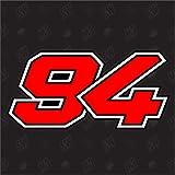94 - Jonas Folger Startnummer Moto GP Sticker