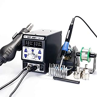 WEP 899D II 2 in 1 Professional LED Digital Display SMD Hot Air Rework and Soldering Iron Station - Multiple Functions UK Plug