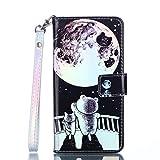 BONROY Tasche Hülle für Apple iPod Touch 5/6 Flip Schutzhülle Zubehör Lederhülle Handytasche im Bookstyle Stand Funktion Kartenfächer Magnet Etui Schale - (ZD-Sternenbär)