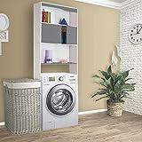 ProBache - Meuble étagère dessus wc bois coloris gris