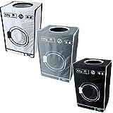 teprovo Set di 3 pieghevole cesto della biancheria sporca lavanderia collettore contenitore biancheria sporca lavanderia 50 L riporre i vestiti in bianco e nero grigio