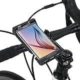 Tigra Sport MountCase Universal 6 Bike Kit Smart Case, fietshouder en RainGuard beschermhoes voor smartphones, Universeel 5, zwart