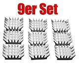 COM-FOUR® 9er Set passive Alu Kühlkörper 13x14 mm für Raspberry
