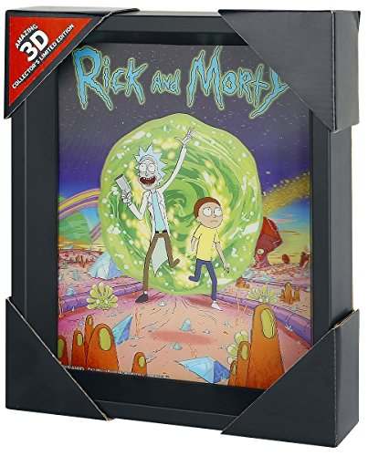 Rick And Morty Portal Póster 3D multicolor