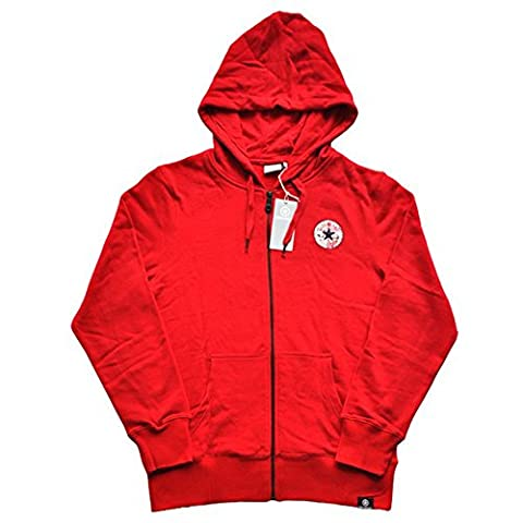Converse All Star Herren Zip Hoodie Kapuzenjacke Color: Rot / red Hoody Bestellnummer: 19106-78