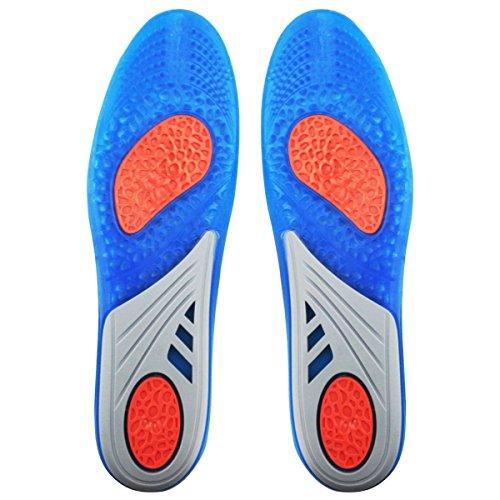 Unisex Sport Orthotische Einlegesohlen in voller Länge Performance Schuh-Einlegesohlen Lösen Sie Fußschmerzen und Fasciitis Blau(EU 41-47) (Voller Länge-unterstützung In)
