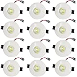 Galaxy LED 3W Round COB Focus Light Ceiling Light, Color Of LED Blue (Pack Of 12)