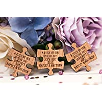Mr & Mrs PUZZLE Table Decoration Wedding Favours Table Confetti Personalised Wedding Tags