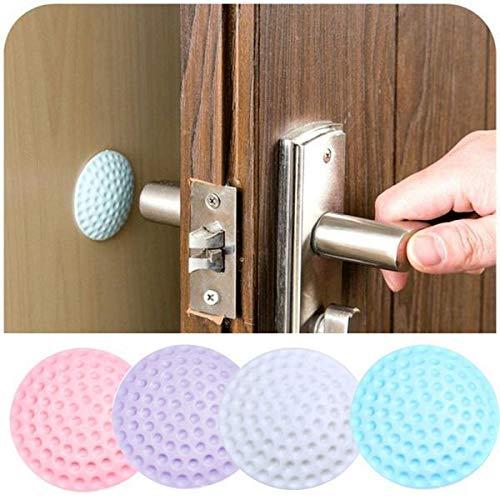 CIOLER HomeFun - Tope para Manilla de Puerta Protector de Autoadhesivo para Pared- Silicona Pared Protectores de Topes para Puertas Antigolpes (A)