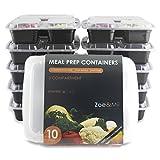 [10er Pack] 3-Fach Meal Prep Container Set Mikrowellenfest Lock Dosen,Frischhaltedosen,Essen box...