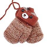 [Red] Lovely Baby Guanti in maglia Guanti invernali per bambini