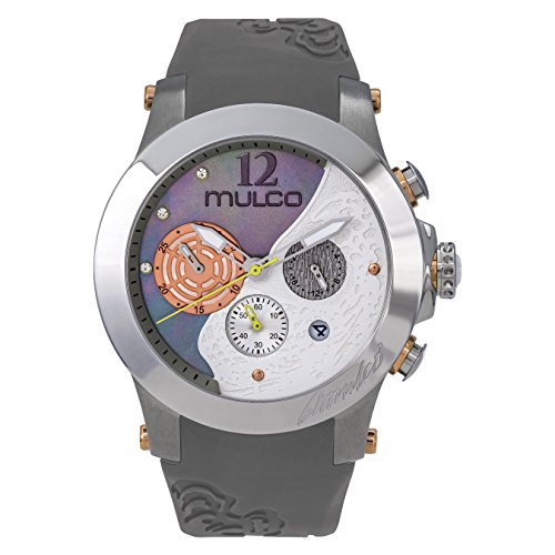 Mulco Women's MW3-16061-221 Windrock Dark Grey Silicone Strap Watch