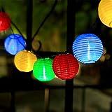 InnooTech Solar Lichterkette Lampion 30er LED 6 Meter Laterne Gartenbeleuchtung Innen- und Außenbereich mit Batteriehalter für Weihnachten, Party, Hochzeit, Deko, Feiern ,Garten, Terrasse, Hof, Haus, Tannenbaum warmweiß Bunt